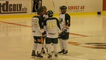 Connolly, Lundh och Berglund under en försäsongsens matcher. Foto: Marie Angle/fbkbloggen