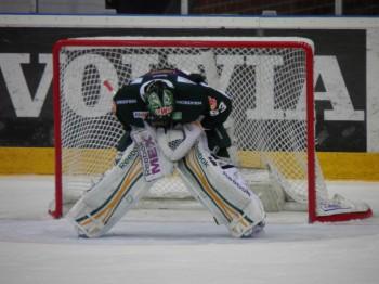 Elitseriens bästa målvaktspar? Alexander Salák i hemmamatchen mot Skellefteå 13/10. Foto: Marie Angle/fbkbloggen