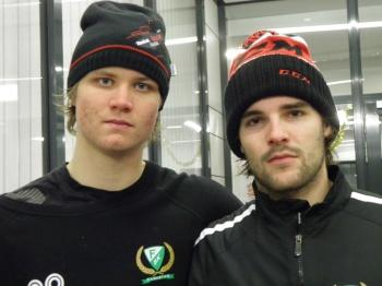 Max Görtz och Linus Fröberg. Båda har kontrakt inför nästa säsong, och Görtz kan mycket väl bli slutspelets joker! Foto: Marie Angle/fbkbloggen
