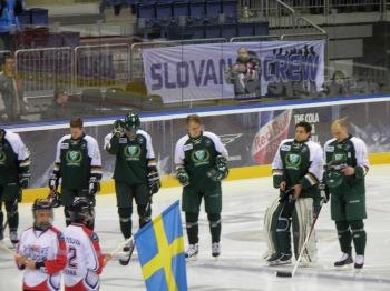 Inför nedsläpp i kvartsfinalen mot Bratislava  i ET-slutspelet förra året. Foto: Marie Angle/fbkbloggen