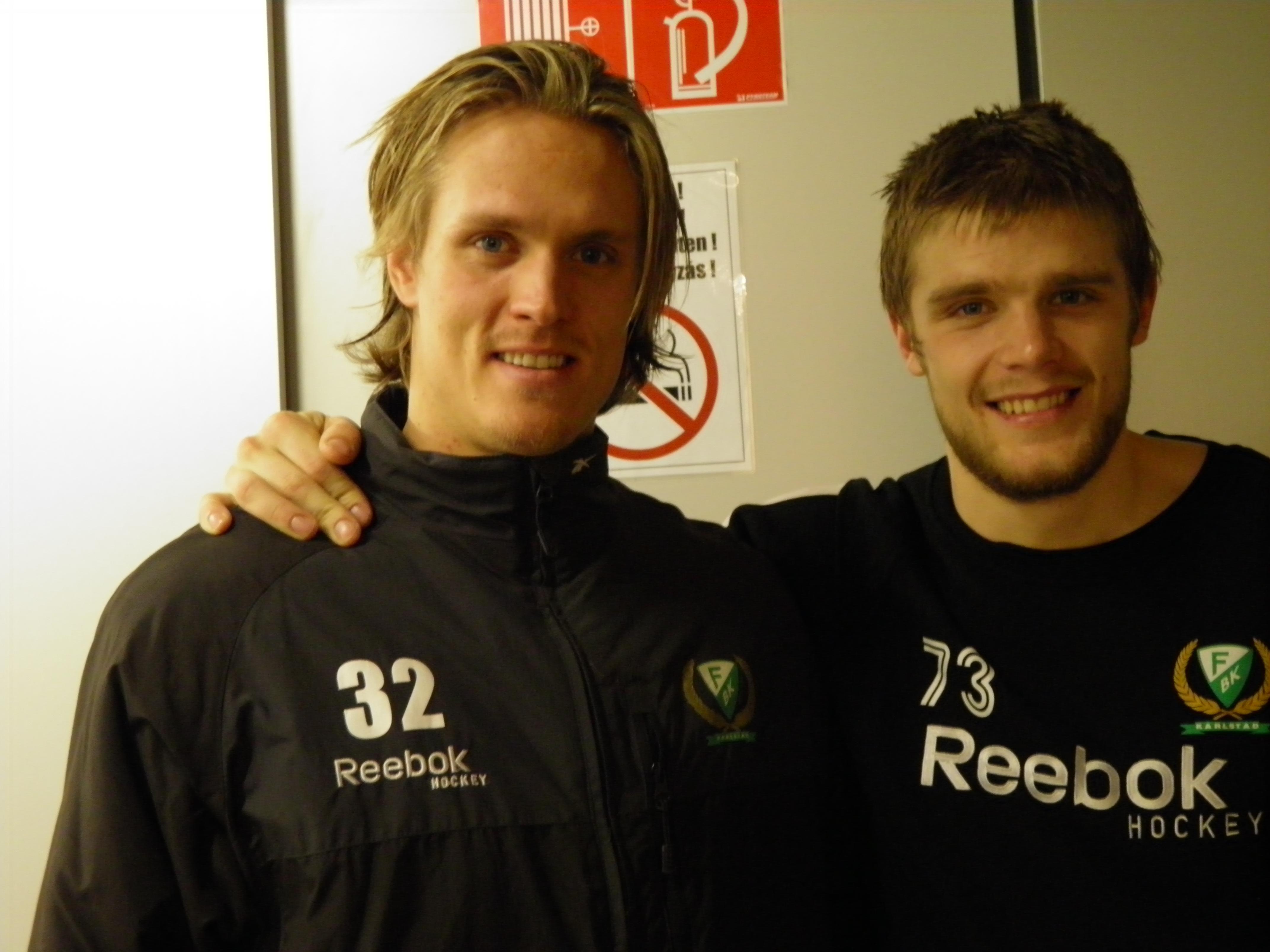 Magnus Nygren och Anton Grundel förutspår en jämn final mot Luleå Foto: Marie Angle/fbkbloggen