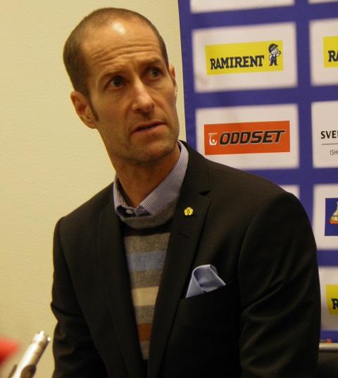 Anders Forsberg var  en ödmjuk vinnare på presskonferensen. Foto: Marie Angle/fbkbloggen