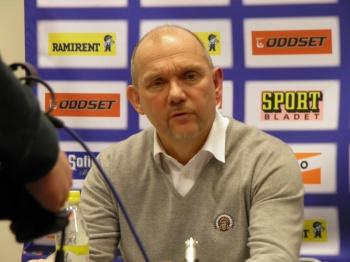 Frölundas coach, Kent Johansson, på presskonferensen efter matchen 12/2 2013. Foto;Marie Angle/fbkbloggen