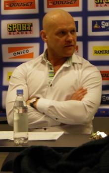 Andreas Johansson på presskonferensen efter FBK:s vinst över Modo 23/2 2013 Foto: Marie Angle/fbkbloggen