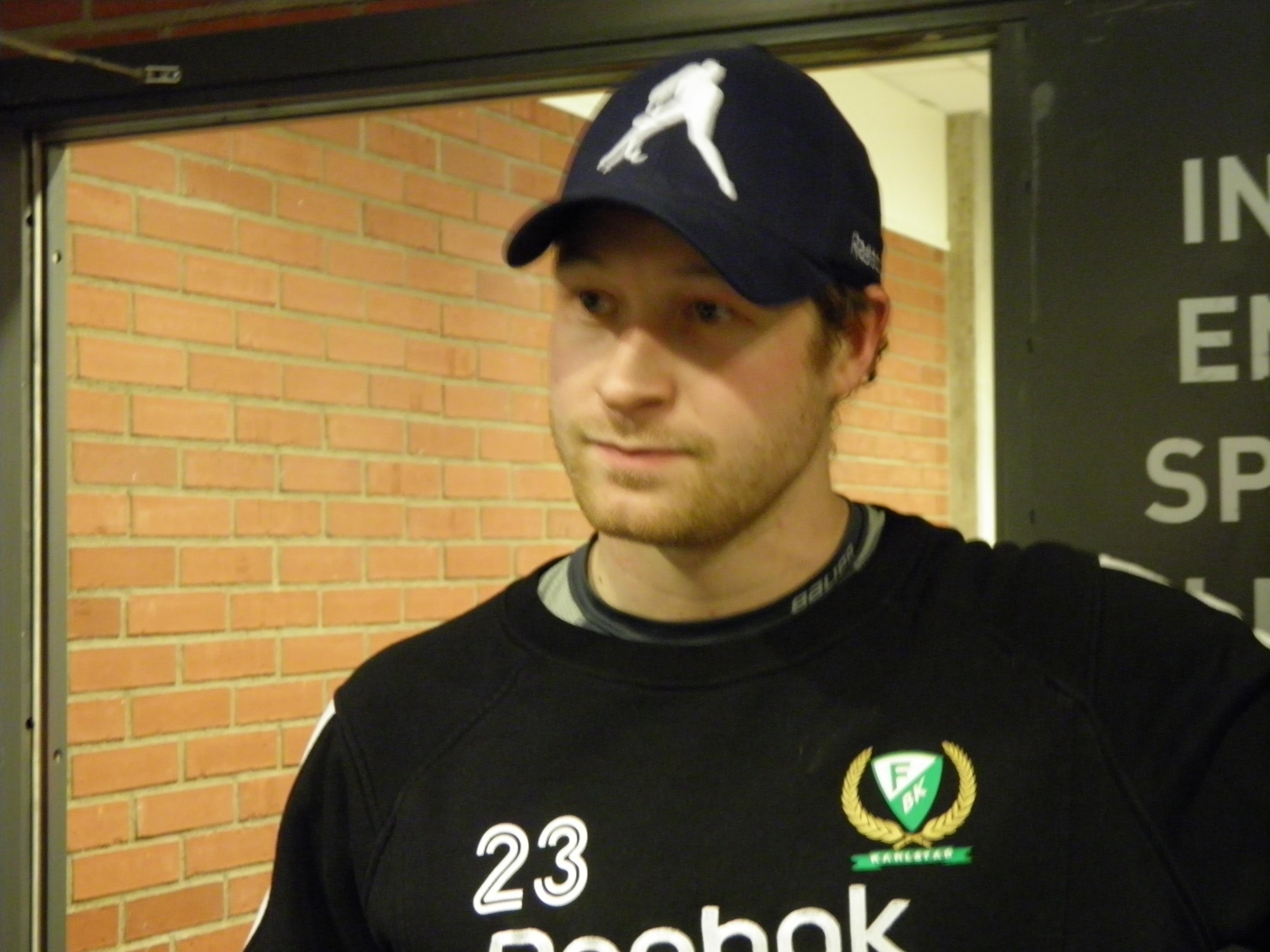 Martin Röymark gjorde sitt femte mål för säsongen när han kvitterade till 1-1 mot HV71 på lördagskvällen. Foto:Marie Angle/fbkbloggen