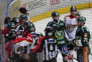 Bråket som resulterade i en tvåa för Tollefsen, men ingen för Luleå. Foto: Marie Angle/fbkbloggen