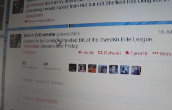 Devin DiDiomete släppte bomben via sitt twitterkonto @deeds2424. Framtidens melodi? Foto: Marie Angle/fbkbloggen