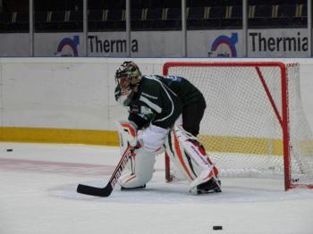 Bryzgalov i FBK-dräkten. Men närmare än så kommer han inte SHL! Foto: Marie Angle/fbkbloggen