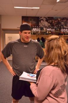 """""""Jag försöker att inte tänka så mycket på det"""" erkänner """"Deeds""""när jag frågar honom om nästa veckas utlovade besked. Foto: Robin Angle/fbkbloggen"""