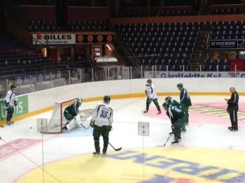 Förmiddagsträning inför avfärd till Göteborg och Frölundamatchen 6/9 2013 Foto: Marie Angle/fbkbloggen