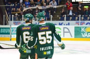 #55, Ole-Kristian Tollefsen och #6 Ludwig Byström utgjorde backpar i onsdagens match. Foto: Robin Angle/fbkbloggen