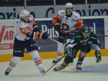 Skön revansch för både målskytten Joakim Nygård och resten av laget för nederlaget mot Växjö kvällen innan. Foto: Robin Angle/fbkbloggen