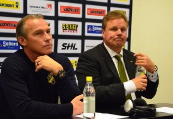 Rikard Franzen och Leif Carlsson på presskonferensen. Foto: Robin Angle/fbkbloggen