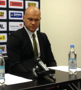 De tio första minuterna. Det var allt Andreas Johansson var nöjd med i kvällens match. Foto: Marie Angle/fbkbloggen