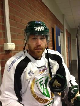 Garrett Stafford efter fredagens träning. Foto: Marie Angle/fbkbloggen