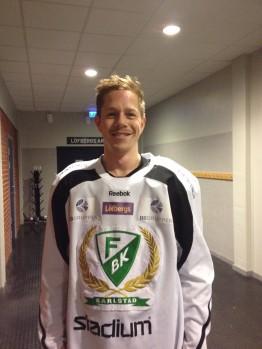Joakim Hillding, poängbäst i Färjestad så här långt och på väg mot personligt poängrekord i SHL! Foto; Marie Angle/fbkbloggen