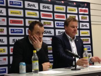 """Thomas """"Bulan"""" Berglund och Leif Carlsson på presskonferensen 10/12 2013 Foto: Marie Angle/fbkbloggen"""