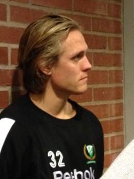 """Magnus Nygren gjorde mål i debuten. Ett typiskt """"Nygga-mål""""! Foto: Marie Angle/fbkbloggen"""