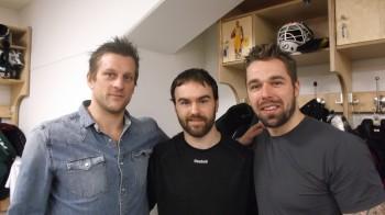 Succekedjan med Christian Berglund, Jack Connolly och Milan Gulas. Även Joakim Nygård har hoppat in i formationen, och gjort det bra! Foto: Marie Angle/fbkbloggen