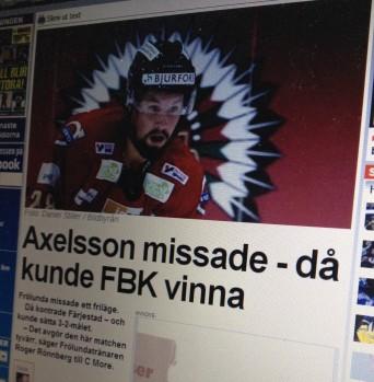 Fokus på missen (?) istället för på räddningen. Expressen.se 4/1 2014