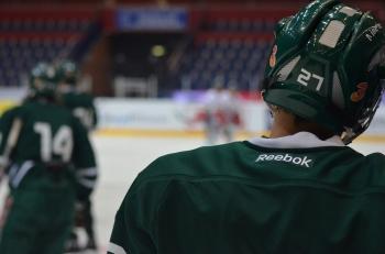 #27, August Gunnarsson, blickar fram mot en ljus framtid, enligt coach Fröberg. Foto: Robin Angle/fbkbloggen